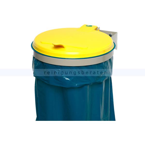 Müllsackständer VAR WSK Wandgerät zur Wandmontage gelb ideal für 120 L Müllsäcke, robuste und stabile Konstruktion 1690