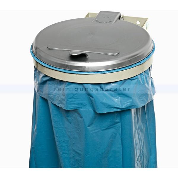Müllsackständer VAR WSK Wandgerät zur Wandmontage silber ideal für 120 L Müllsäcke, robuste und stabile Konstruktion 1691