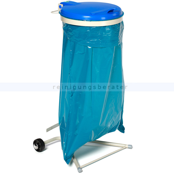 Müllsackständer VAR WSR 120 Müllsackhalter fahrbar blau ideal für 120 L Müllsäcke, robuste und stabile Konstruktion 1641