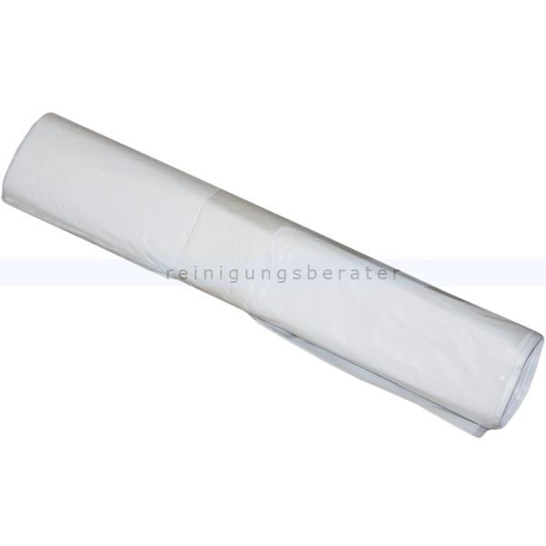 Müllsäcke für Drahtkorb weiß 90 L 16 my, 40 Stück/Rolle