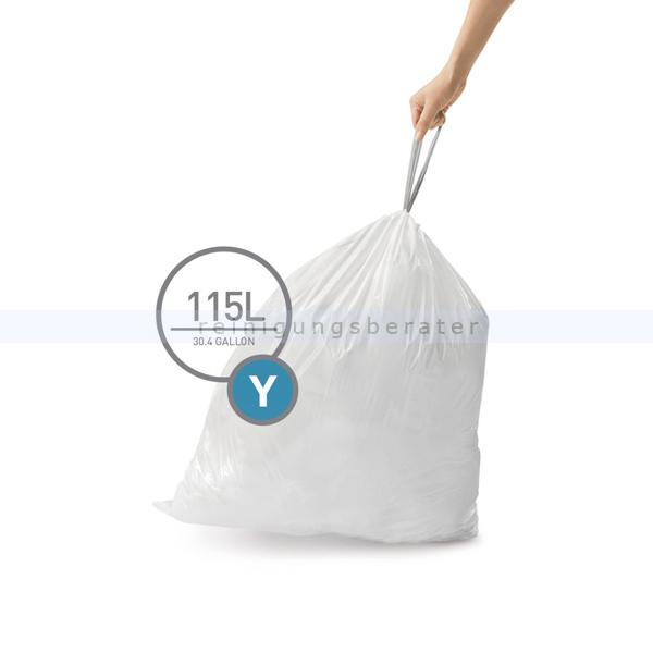 Müllsäcke Simplehuman code Y, Pack mit 200 Stück, 115 L