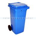 Mülltonne Container mit Papierschlitz und Schloss blau 120 L