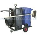 Mülltonne Containerwagen Müllwagen 2 x 120 L komplett