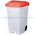 Mülltonne Contibasic fahrbarer Abfallbehälter 70 L weiß-rot