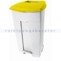 Mülltonne Contiplast fahrbarer Abfallbehälter 120L weiß-gelb