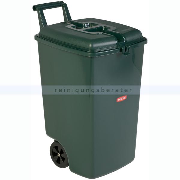 Mülltonne Curver Abfallbehälter mobil grün 90 L