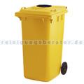 Mülltonne ESE Container mit Glasrosette 240 L Gelb