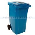 Mülltonne ESE Container mit Papierschlitz 240 L Blau