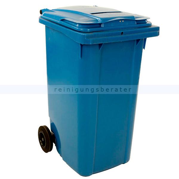 m lltonne ese container mit papierschlitz 240 l blau. Black Bedroom Furniture Sets. Home Design Ideas