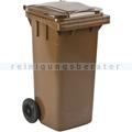 Mülltonne ESE Kunststoff 120 L braun