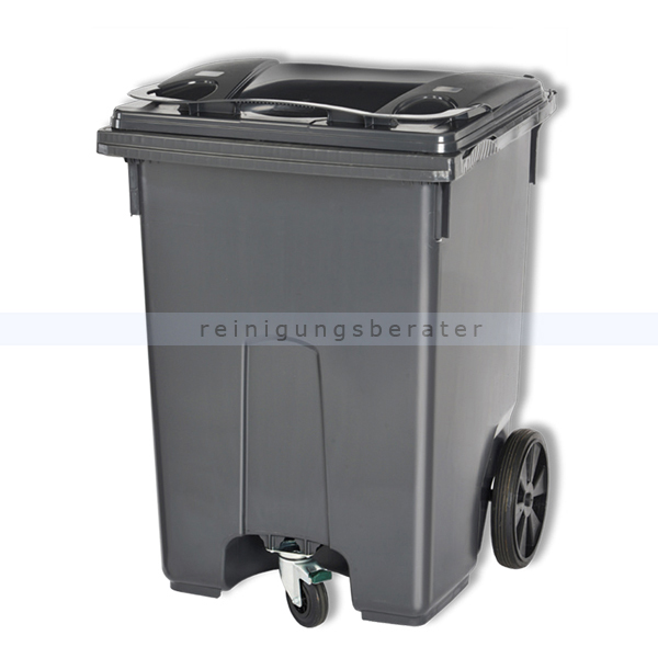 Mülltonne ESE Mini Container 400 L Grau mobiler Abfallbehälter 31046980
