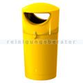 Mülltonne Metro Hooded Müllbehälter 100 L gelb