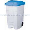 Mülltonne Orgavente Contibasic fahrbar 70 L weiß-blau