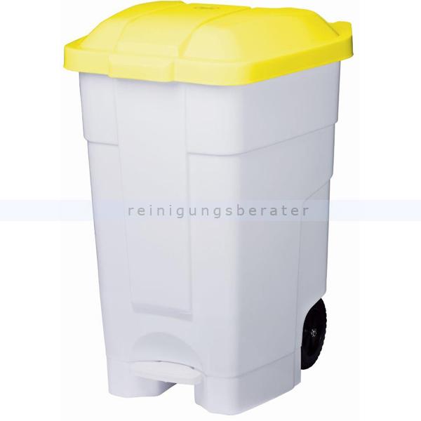 Mülltonne Orgavente Contibasic fahrbar 70 L weiß-gelb