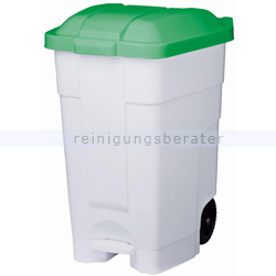 Mülltonne Orgavente Contibasic fahrbar 70 L weiß-grün