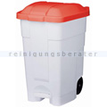 Mülltonne Orgavente Contibasic fahrbar 70 L weiß-rot