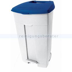 Mülltonne Orgavente Contiplast fahrbar 120 L weiß-blau