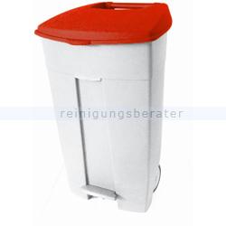 Mülltonne Orgavente Contiplast fahrbar 120 L weiß-rot