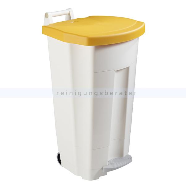 Mülltonne Rossignol Fahrbarer Abfallbehälter BOOGY 90 l gelb