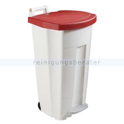 Mülltonne Rossignol Fahrbarer Abfallbehälter BOOGY 90 l rot