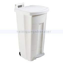 Mülltonne Rossignol Fahrbarer Abfallbehälter BOOGY 90 l weiß