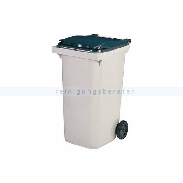 Serina MUlltonnenbox Holz 240 L ~ KOROK Mülltonne Rossignol 240 L Kunststoff grau 56620
