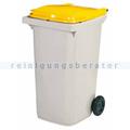 Mülltonne Rossignol Korok 240 L Kunststoff dunkelgrau/gelb