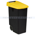 Mülltonne Rossignol Movatri fahrbar 85 L schwarz/gelb