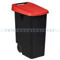 Mülltonne Rossignol Movatri fahrbar 85 L schwarz/rot
