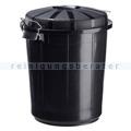 Mülltonne Rossignol Müllbehälter Bazi schwarz 70 L