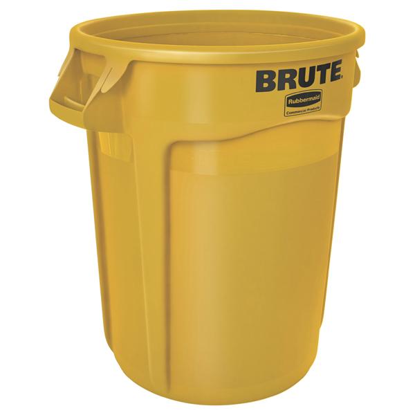 Mülltonne Rubbermaid Brute Container 121 L Gelb Mit Handgriffen Sehr Widerstandsfähig