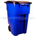 Mülltonne Rubbermaid BRUTE Rollcontainer blau 189,3 L