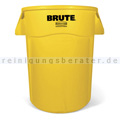 Mülltonne Rubbermaid Brute Utility rund 166,5 L Gelb