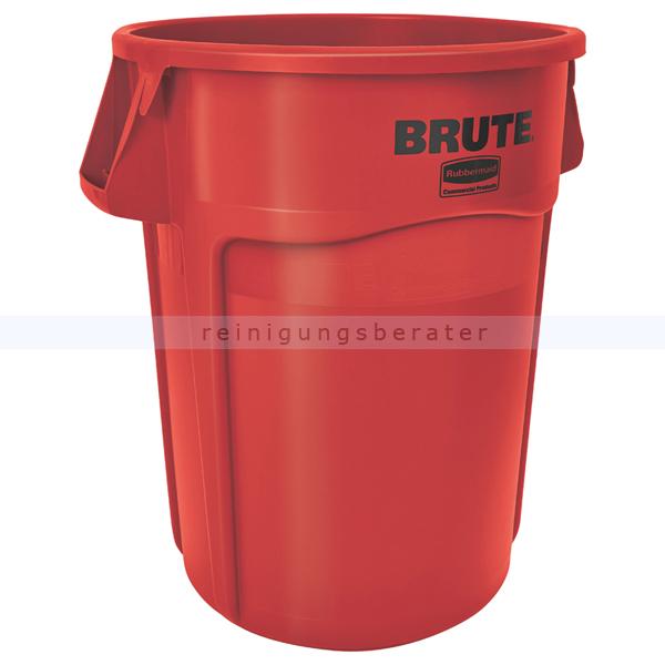 Mülltonne Rubbermaid Brute Utility rund 166,5 L Rot Mülleimer mit Luftschlitzen 76191684