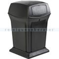 Mülltonne Rubbermaid Ranger 2-fach Einwurf 170 L schwarz