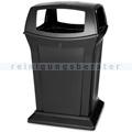 Mülltonne Rubbermaid Ranger 4-fach Einwurf 170 L schwarz