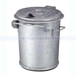 Mülltonne stahlverzinkter Abfallbehälter 70 L verzinkt