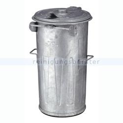 Mülltonne stahlverzinkter Abfallbehälter 90 L verzinkt