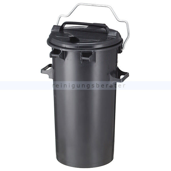M lltonne sulo aus kunststoff 50 l dunkel grau for Tonne mit deckel 50 l