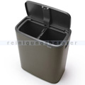 Mülltrennsystem Brabantia Bo Touch Bin 2 x 30 L platin