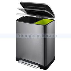 Mülltrennsystem EKO E-Cube Recycling 28 plus 18 L schwarz