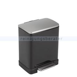 Mülltrennsystem EKO Treteimer E-Cube 10 plus 9 L Schwarz
