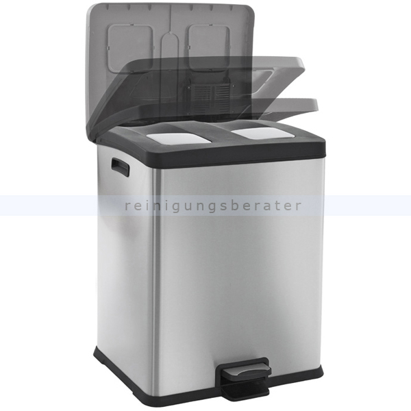 treteimer rejoice recycling bin 2 x 30 l eko edelstahl matt. Black Bedroom Furniture Sets. Home Design Ideas