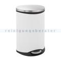 Mülltrennsystem EKO Treteimer Shell Edelstahl weiß 2 x 22 L