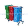 Mülltrennsystem Floorstar Abfallwagen TW 3 SOLID