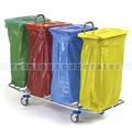 Mülltrennsystem Floorstar Abfallwagen TW 4 - verchromt