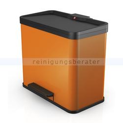 hailo tret abfallsammler trento ko trio 33 3x11 l mandarine. Black Bedroom Furniture Sets. Home Design Ideas