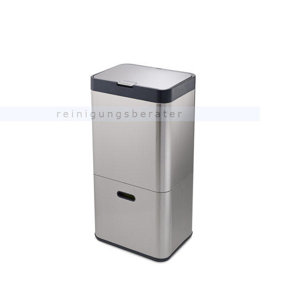 Mülltrennsystem Intelligent Waste Totem Recycler Edelstahl 60 L