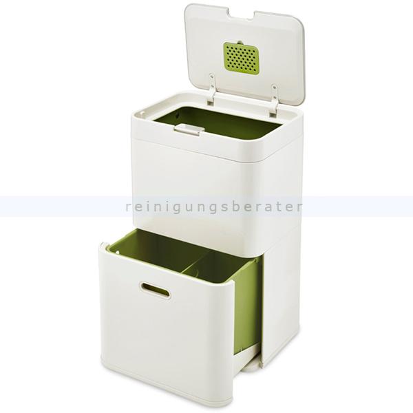 Mülltrennsystem Intelligent Waste Totem Recycler grau 48 L