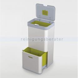 Mülltrennsystem Intelligent Waste Totem Recycler silber 60 L